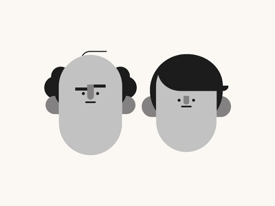 Father and son characters people gentlemen character character design illustration