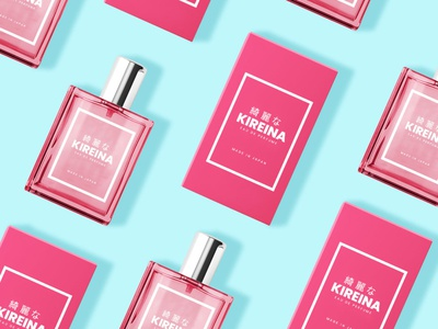 Kireina Perfume flat design banner ad social media