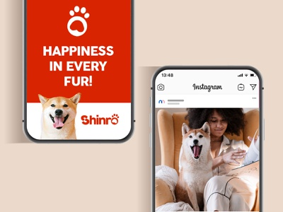 Shinro Soc Med Phone Ad animated phone app phone branding design banner ad social media