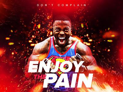 Enjoy The Pain banner ad social media design
