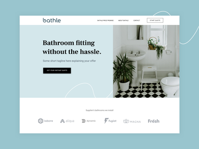 Bathroom Fitting Landing Page web design web ui webdesign landing page design mockup layout uiux landing page branding ux interface clean brand identity design concept landing