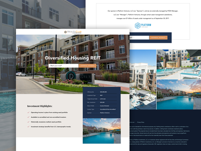 RealtyClub Layout web page design real estate agency properties luxury architecture home agent houses images realtors apartments lander property sell buy uiux design branding layout real estate real estate branding