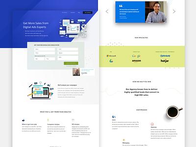Zaveint - Landing Page social media seo landing clear clean design layout typography ux uiux ui landing page