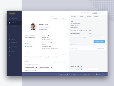 Redesigned CRM uiux clean ui layout concept software business management sales fonts landing dashboard interface design ux