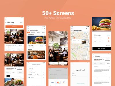 Restaurant/Food app UI kit