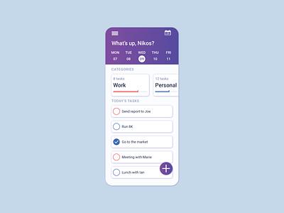 ToDo list - UI Design ux graphic design interaction flat ui