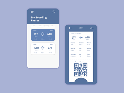 Boarding Pass - UI Design ux interaction graphic design ui