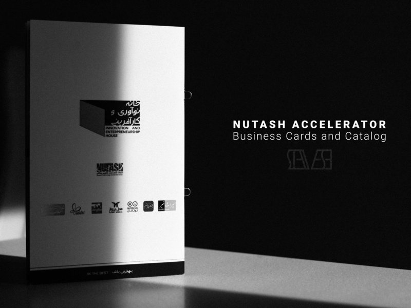 Nutash Accelerator, Business Cards and Catalog. type minimal lettering logo vector typography branding design illustration
