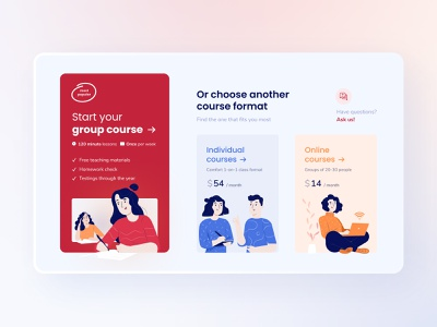 DeltaPlan Landing Page - Exam Preparation Courses education uxui landingpage illustration design web ux ui typography web design