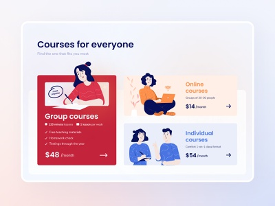 DeltaPlan Landing Page - Exam Preparation Courses educational education illustration landingpage uxui ux design ui web typography web design