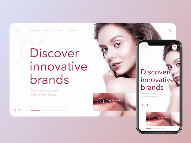 MEDEX: professional skin care products website flat web beauty concept design ux typography web design ui