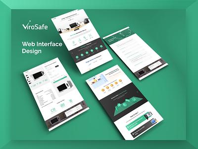 Promotional Website Design branding webmockup device sterlization coronavirus uxdesign uidesign visual design webinterface digitalart adobexd illustration design ui