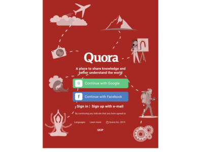 Quora Launch Screen Redesign