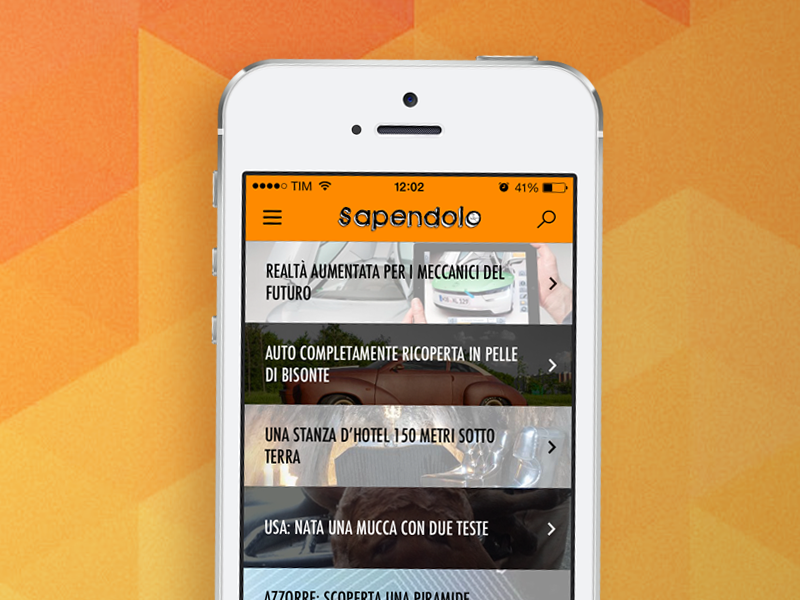 Sapendolo App for iOS 7 sapendolo app