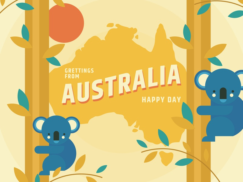 Australia flat vector design illustration australia