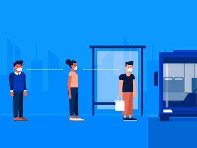 Social distancing coronavirus flat vector illustration design socialdistancing