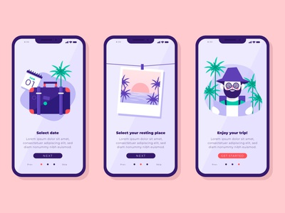 Travel app flat vector illustration design app travel