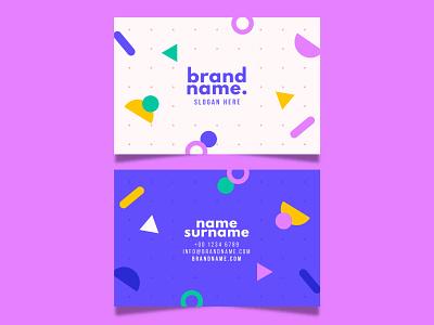Business card businesscard flat vector illustration design