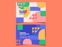 Business card businesscard flat vector illustration design