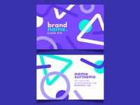 Business card flat businesscard vector illustration design