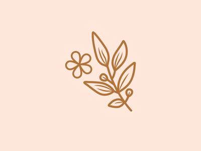 Floral Elements icon logo branding illustration
