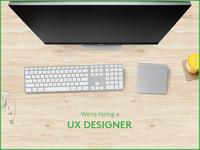 We're Hiring a UX Designer