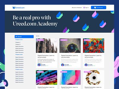 Ureed academy web design website ui ux web webdesign ui design colorful uiux uidesign