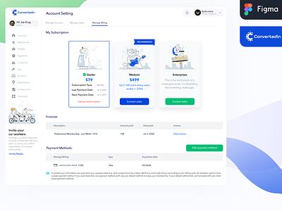 ConvertedIn- Dashboard logo design website webdesign agency web design ui design ux illustration dashboard colorful uiux uidesign ui