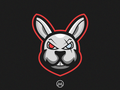 Bunny Warrior Mascot Logo