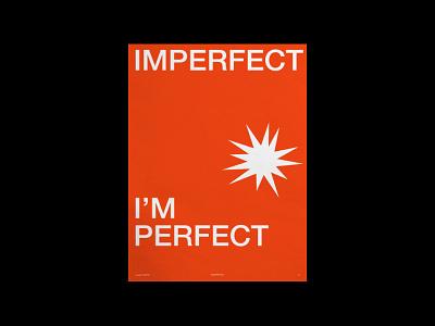 /04 - Perfection graphic design shapes typography 04 minimal vector orange star perfection poster dailyposter illustration minimalist design