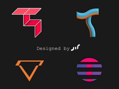 T Monogram designs