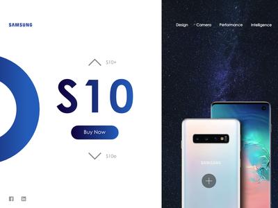 Samsung website concept design