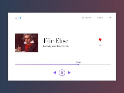 Music app concept design