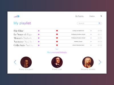 Music app design 2