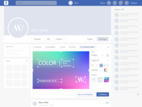 FACEBOOK Post-Cover-Editor (concept)