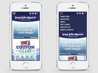 Long John Silver's Mobile Web Design