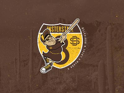 San Diego to Arizona Trip Logo illustration design typographic sdca