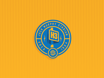 H3 typography typographic design sdca qualcomm stadium san diego