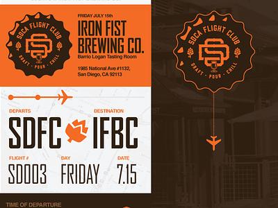 Flyer Ironfist x SDCAFC branding layout design flyer
