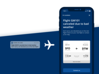 Daily UX Writing Challenge: Day 1 - Flight Cancellation