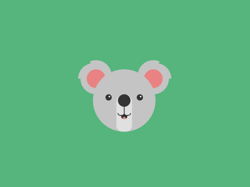 Koala illustration minimal flat circles koala bear koala cute animal illustration