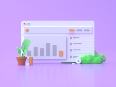 Dashboard Illustration 3d illustration dashboard octane c4d