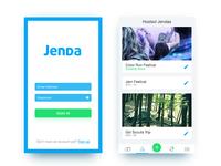 Jenda App - Login & Home