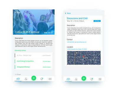 Jenda App - Attendee View ux ui mobile agenda jenda ios app