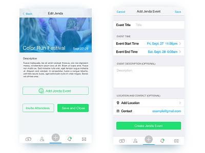 Jenda App - Jenda Setup ux idea42 ui event agenda calendar app ios