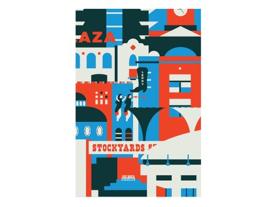 Fort Worth Print fort worth print dfw texas fortworth illustration