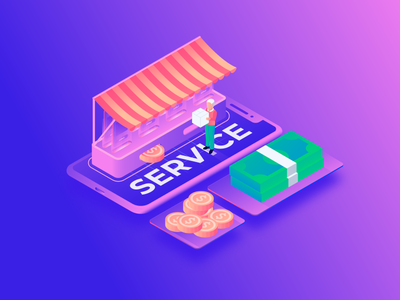 Online shop (Service) technology product quarantine 3d buyer buy online store store man pay isometry illustration gradient money icons service shop online shop app online