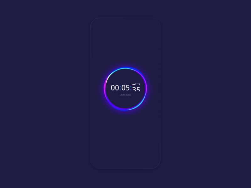 Concept of Countdown Timer colors clock product ux visual identity brand inspire concept mobile app mobile ui design creative graphics mobile timer technology ui app illustration gradient