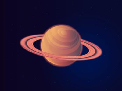 Saturn satellite solar system planet circle hula hoop round inspire space museum loop objective universe galaxy saturn design illustration gradient