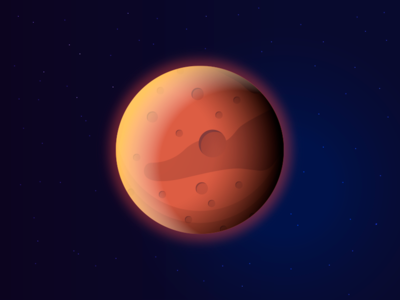 Mars dark nasa galaxy milkyway astronomy sky planet stars cosmos space art peace universe mars vector illustration gradient